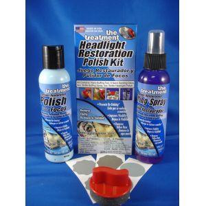 Treatment Headlight Restoration Polish Kit  236,5 ml.